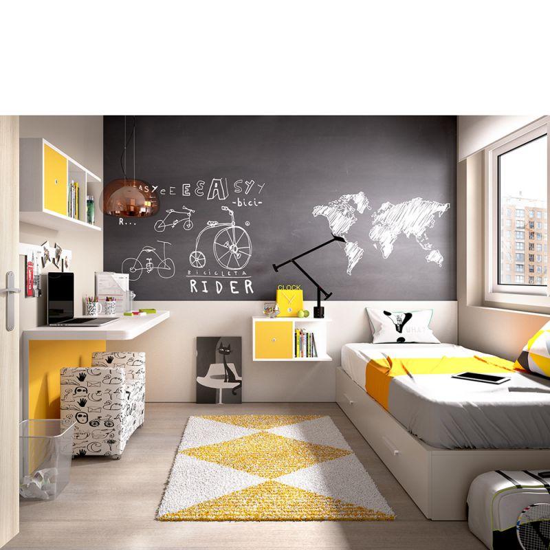 Cuarto juvenil decorar un cuarto juvenil decoracin - Decorar habitacion juvenil femenina ...